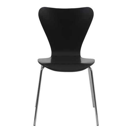 Eurostyle Tendy Black Side Chair, Set of Four