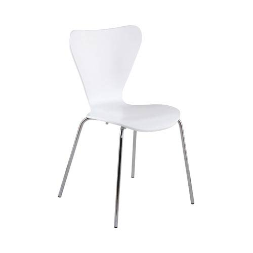 Tendy White Side Chair, Set of Four