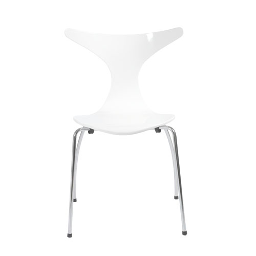 Frida White Side Chair, Set of Four