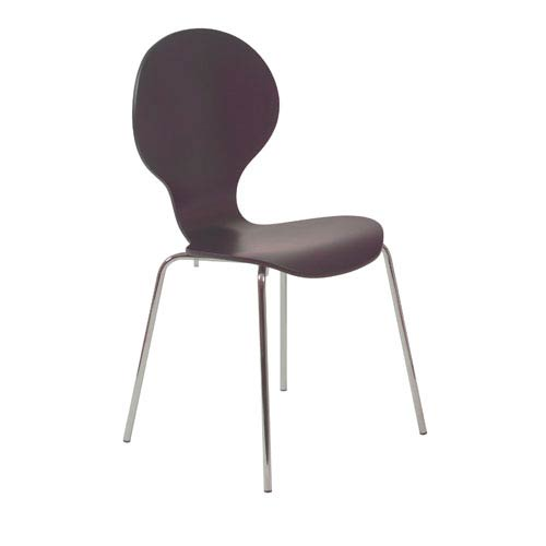 Eurostyle Bunny Wenge Side Chair, Set of Four