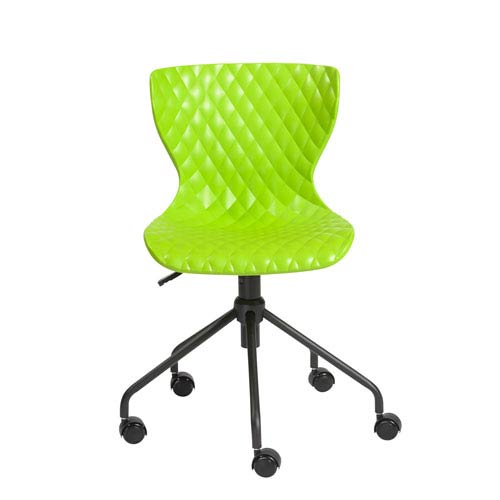Eurostyle Daly Office Chair in Green with Black Base