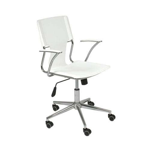 Eurostyle Terry White Leatherette Office Chair