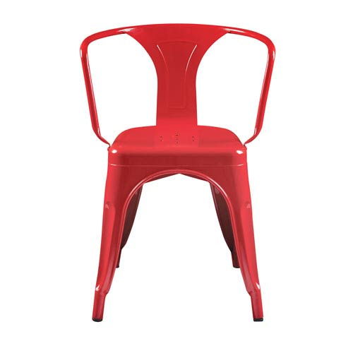 Corsair Stacking Dining Chair in High Gloss Red
