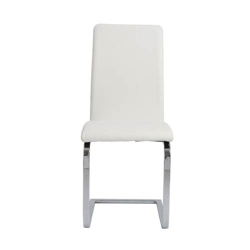 Cinzia White Side Chair, Set of Two