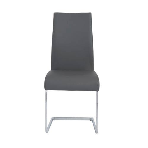 Eurostyle Epifania Gray Side Chair, Set of Four