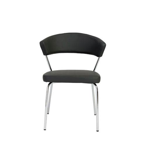 Eurostyle Draco Gray Side Chair, Set of Four