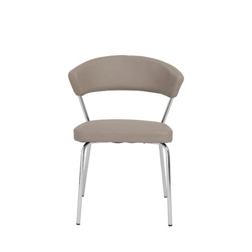 Eurostyle Draco Taupe Side Chair, Set of Four