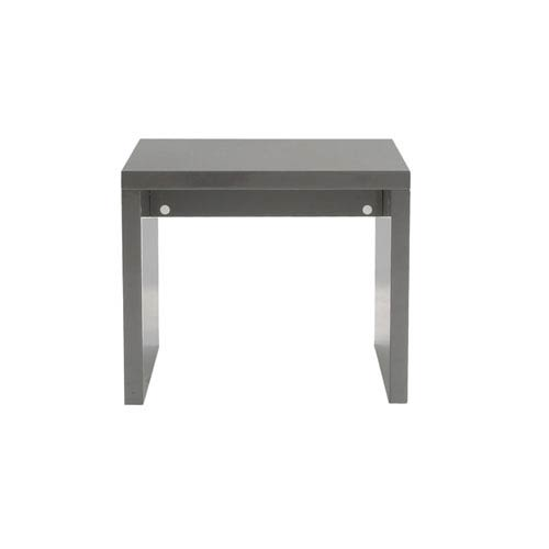 Eurostyle Abby Gray Lacquer Side Table