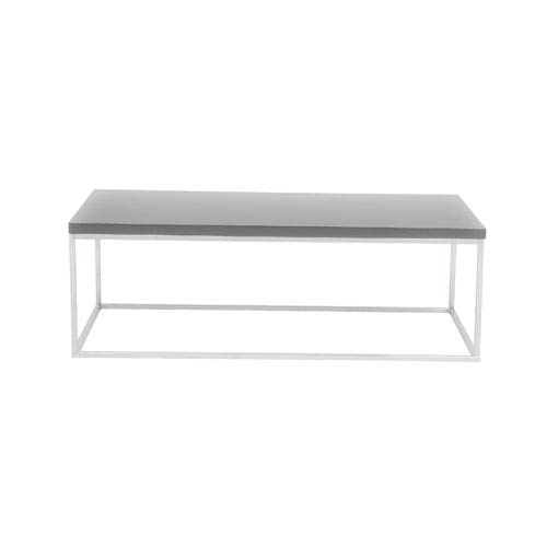 Eurostyle Teresa Gray Lacquer Rectangular Coffee Table