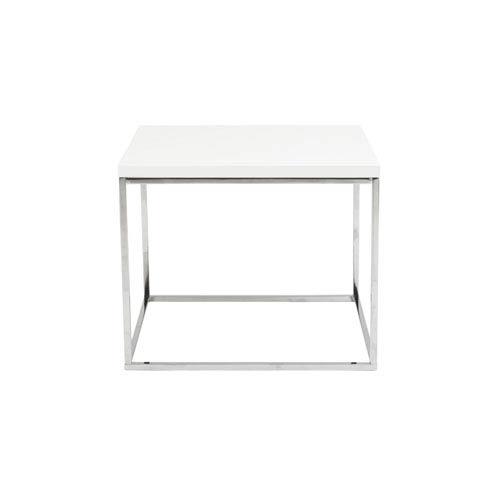 Eurostyle Teresa White Lacquer Side Table