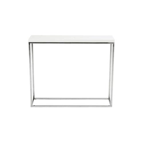 Eurostyle Teresa White Lacquer Console Table