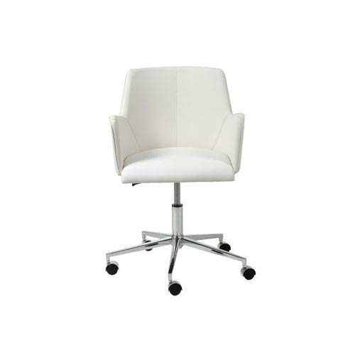 Sunny White Leatherette Office Chair