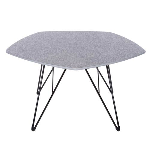 Enzio 30-inch Coffee Table in Gray and Matte Black