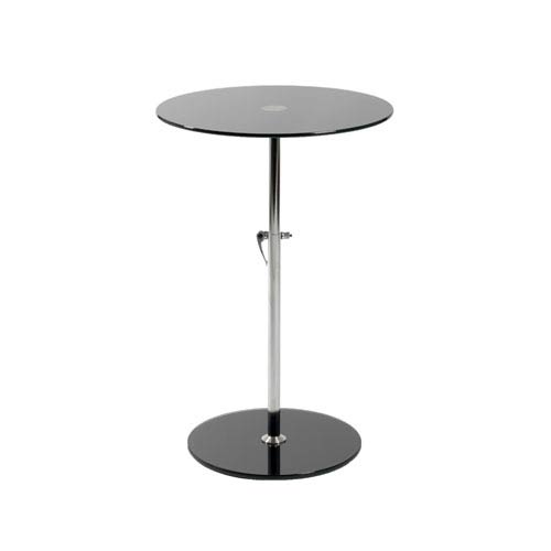 Eurostyle Radinka Black Printed Glass Side Table