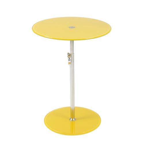 Eurostyle Radinka Yellow Printed Glass Side Table