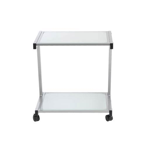 Frosted Glass L Printer Cart