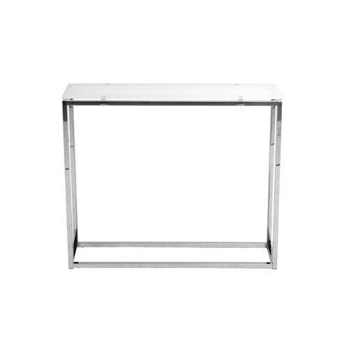 Sandor Pure White Glass Console Table
