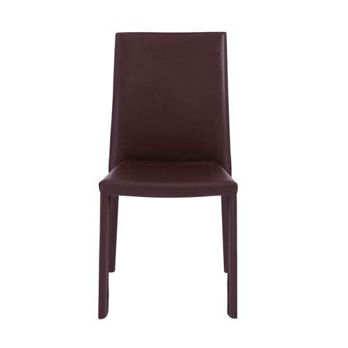 Eurostyle Hasina Stacking Side Chair in Brown - Set of 4