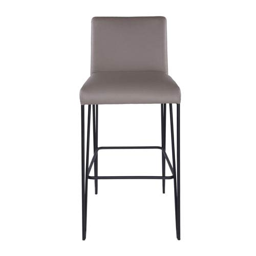 Amir Bar Stool in Taupe and Black