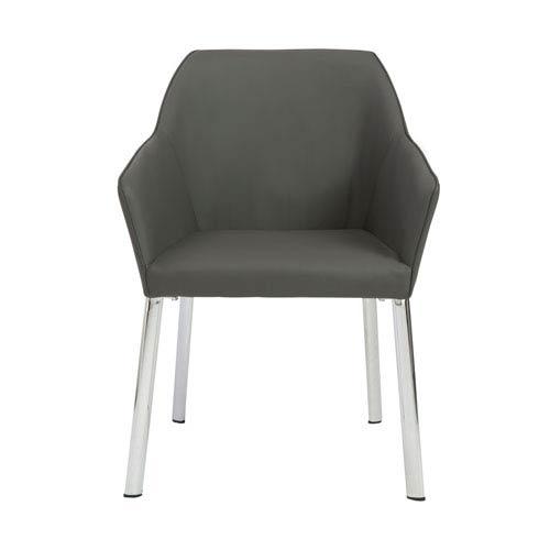 Eagan Dark Gray Arm Chair, Set of 2
