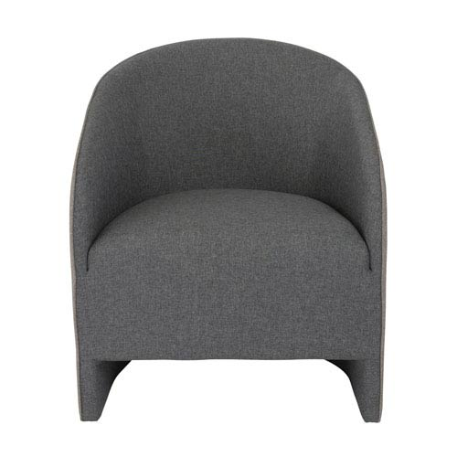 Fela Lounge Chair in Charcoal and Dark Gray Fabric