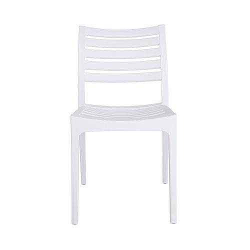 Morrow Stacking Chair in White Polypropylene - Set of 4