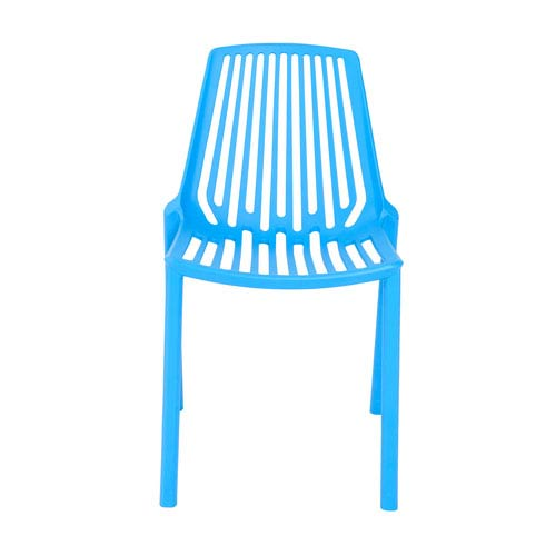 Oasis Stacking Chair in Blue Polypropylene - Set of 4