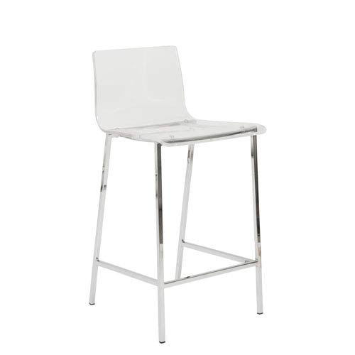 Chloe Clear 26-Inch Counter Stool, Set of 2