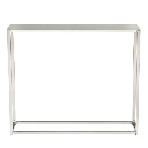 Montclair 36-inch Console Table in Brushed Aluminum