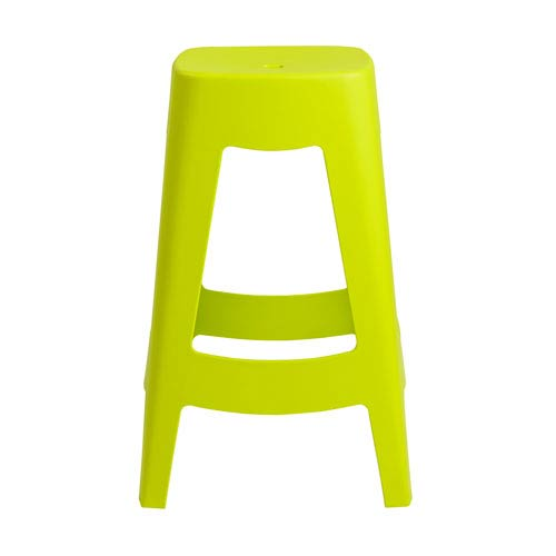 Coda Stackable Counter Stool in Lime Green - Set of 4