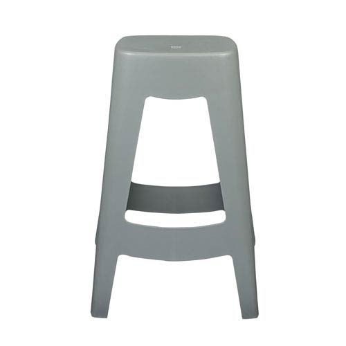 Coda Stackable Counter Stool in Gray - Set of 4