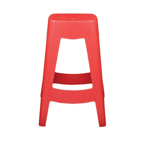 Coda Stackable Counter Stool in Red - Set of 4