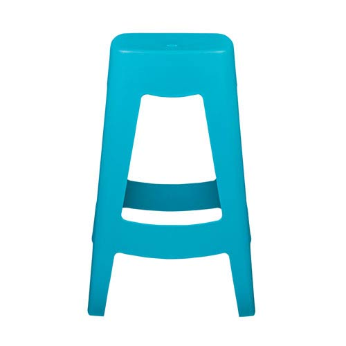 Eurostyle Coda Stackable Counter Stool in Teal - Set of 4