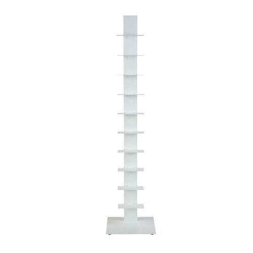 Sapiens 60-inch Bookcase Tower in White