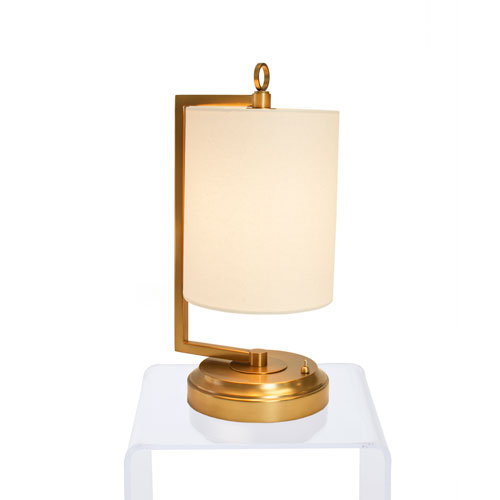 Jynn Antique Brass LED Cordless Battery Operated Table Lamp