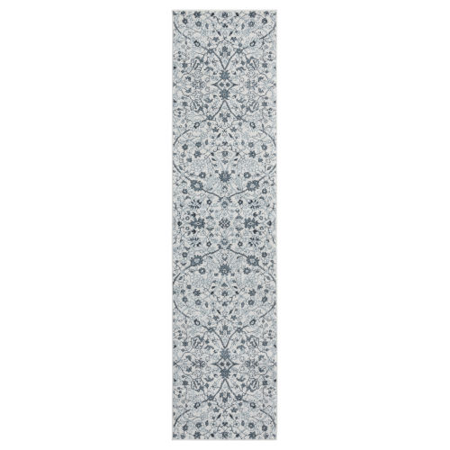 Alexandria Light Blue Runner 2 Ft. 6 In. x 10 Ft. 3 In. Rug
