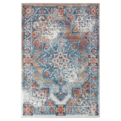 Alexandria Gray Machine-Made Rectangle 5 Ft. 1 In. x 7 Ft. 6 In. Rug