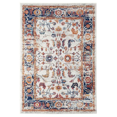 Alexandria Ivory Machine-Made Rectangle 7 Ft. 9 In. x 9 Ft. 9 In. Rug