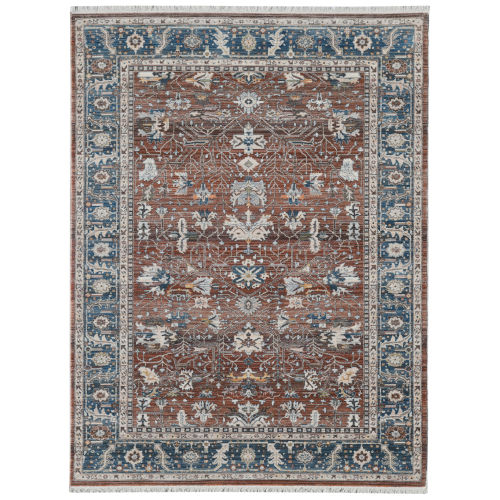 Arcadia Red Rectangle 7 Ft. 1 In. x 10 Ft. Rug