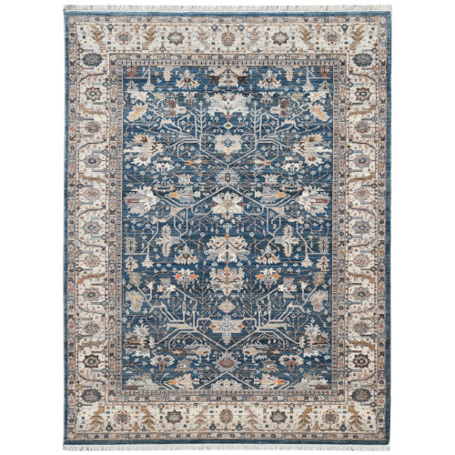 Arcadia Blue Rectangle 5 Ft. x 7 Ft. 8 In. Rug