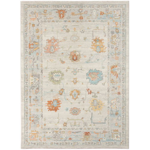 Bohemian Beige Polypropylene Rectangle 5 Ft. 1 In. x 7 Ft. 6 In. Rug