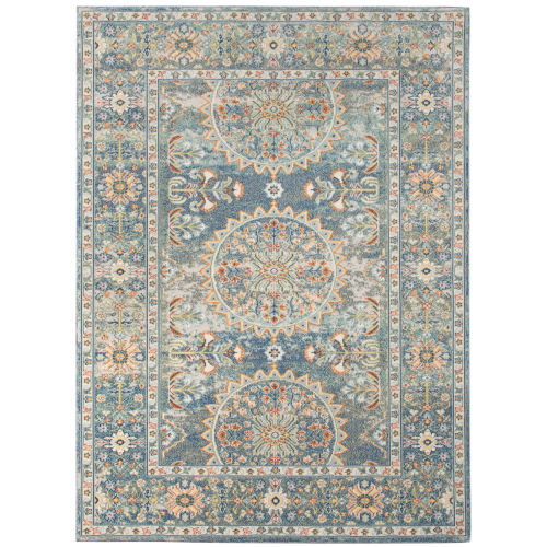 Bohemian Denim Blue Rectangle 8 Ft. 9 In. x 11 Ft. 9 In. Rug