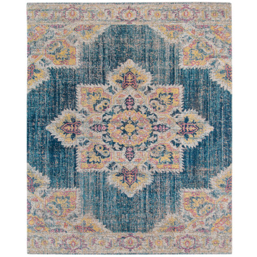 Eternal Turquoise Blue Rectangle 3 Ft. 11 In. x 5 Ft. 11 In. Rug