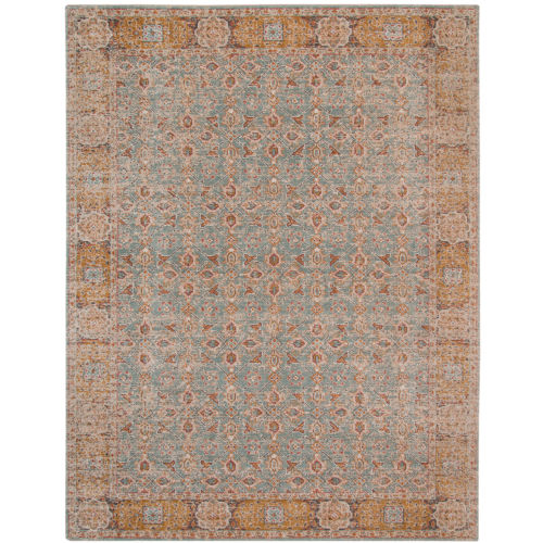 Eternal Teal Rectangle 5 Ft. 7 In. x 7 Ft. 6 In. Rug