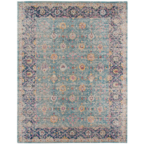 Eternal Turquoise Rectangle 3 Ft. 11 In. x 5 Ft. 11 In. Rug