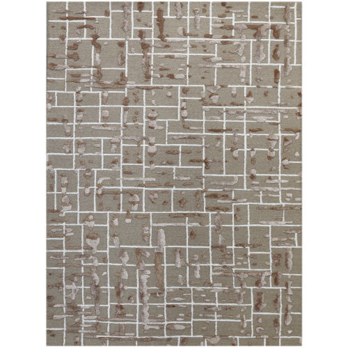 Perla Vintage Khaki Rectangle 7 Ft. 6 In. x 9 Ft. 6 In. Rug