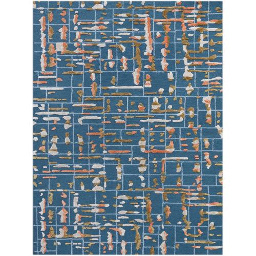 Perla Blue Rectangle 7 Ft. 6 In. x 9 Ft. 6 In. Rug