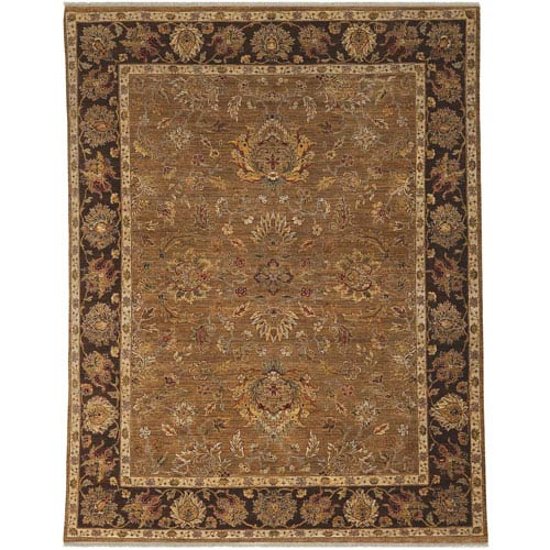 Antiquity Oak and Dark Tan Rectangular: 2 Ft. x 3 Ft. Rug