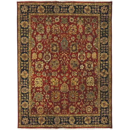 Amer Rugs Antiquity Rust and Navy Rectangular: 2 Ft. x 3 Ft. Rug