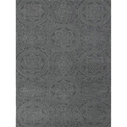 Amer Rugs Ascent Tracy Design Silver Blue Rectangular: 2 Ft. x 3 Ft. Rug